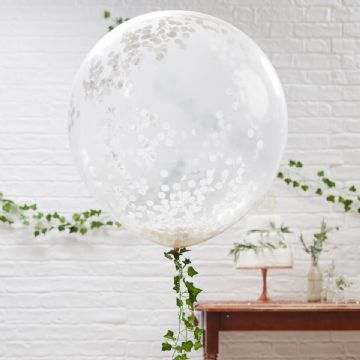 Giant White Confetti Balloon
